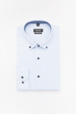 Koszula Bexley 2595 długi rękaw custom fit niebieski